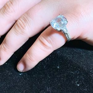 Vintage silver and CZ ring size 7